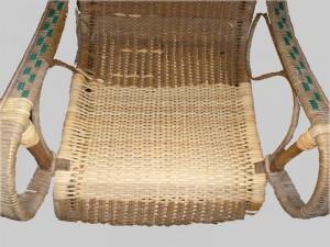 particolare sedia in paglia